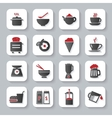 White flat cooking and food icons vector image