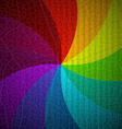 Retro Rainbow Spiral Background Abstract Colorful vector image vector image