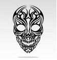 Tribal Skulls Tattoo Design vector image