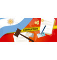 argentina corruption money bribery financial law vector image