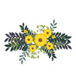 cute flowers decorative icon vector image
