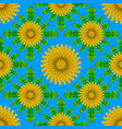 seamless pattern of dandelion with leaves vector image