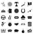 game of chance icons set simple style vector image