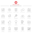 Set of Thin Line SEO and Development icons Set 1 vector image vector image