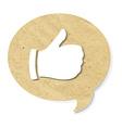 Cardboard Best Choice Symbol vector image