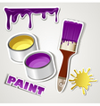set sticker paint vector image vector image