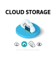 Cloud storage icon in different style vector image