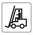 Forklift truck sign vector image vector image