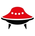 Alien Spaceship Flat Icon vector image