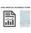 Charts Page Icon with 1000 Medical Business vector image