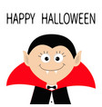 count dracula head wearing black and red cape vector image