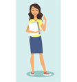 girl shoiwing thumbs up vector image