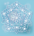 mandala on the blue background vector image