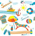 seaside pattern vector image