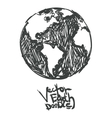 hand drawn global Isolated vector image vector image
