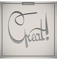 Great greetings hand lettering set vector image vector image