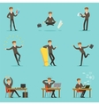 Businessman Work Process Series Of Business vector image