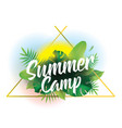 summer camp background for posters and vector image