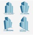 building symbol set architecture business vector image