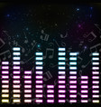 music colored background vector image