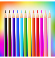 Colour Pencils On Bright Background vector image