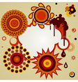 Abstract background with different design elements vector image