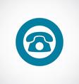 phone icon bold blue circle border vector image