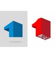 Number one Logo 3D Volumetric figure 1 template vector image