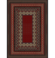 Carpet with motley ornament on the border vector image vector image