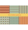 Set of ethnic seamless patterns vector image vector image