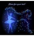Greeting card with tender ballerina vector image