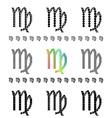 Zodiac Sign Virgo Set vector image