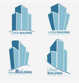 building symbol set architecture business vector image