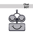 cartoon robot face smiling cute emotion closed vector image