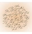 Decorative cursive letters with swirls vector image