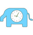 elephant clock vector image