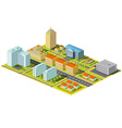Isometric city Stock vector image