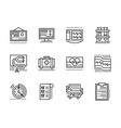Medical black line icons Cardiology vector image