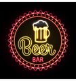 Neon sign Beer bar vector image