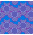 Pattern of lilac flowers in striped vector image