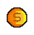 coin game pixel figure isolated icon vector image