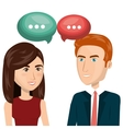 people talking communication icon vector image