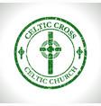 celtic cross-celtic church vector image