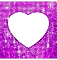 Purple frame in the shape of heart EPS 8 vector image vector image