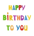 Set of color Birthday candles vector image