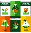 Six Flat Ecology Posters Set vector image