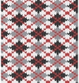 knitted pattern with rhombus vector image