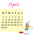 april 2013 vector image vector image