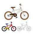 Vintage Bicycle Colorful Bicycle vector image