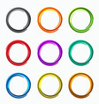 color abstract circles loops logo vector image